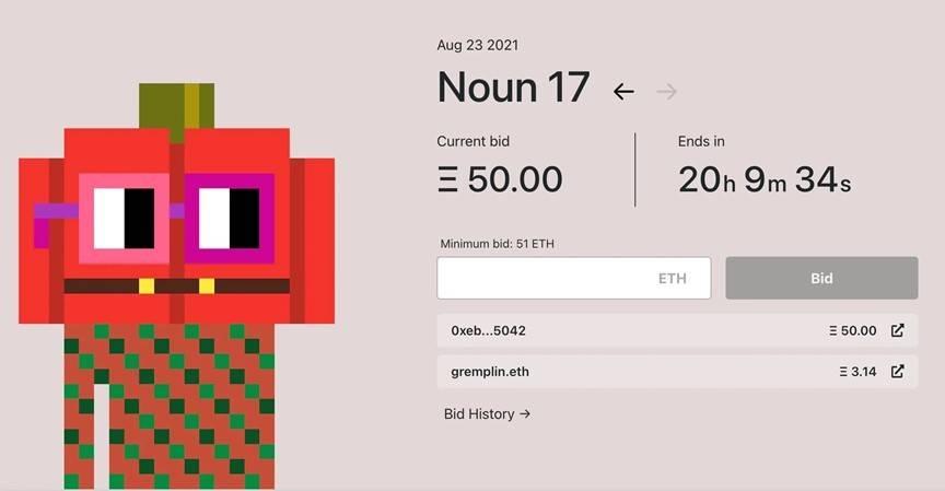 五分钟读懂「Noun」:每日随机铸造并不间断拍卖的 NFT 新实验该怎么玩?