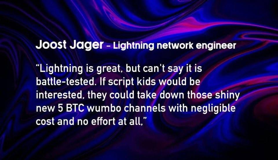 观点:为什么说比特币闪电网络是糟糕的噩梦?